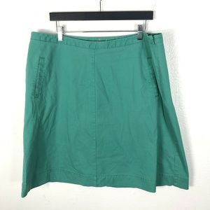 Boden Size 16 Solid Green Skirt Cotton Blend